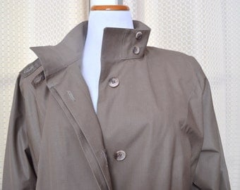 Womens London Fog Maincoats Trench Coat Raincoat with Zipper Lining New with Tags
