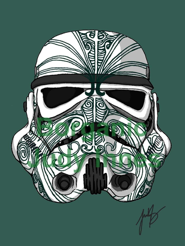 Maori Kiwi Tattoo: Stormtrooper Moko Tattoo Star Wars Episode 7 The Force Awakens