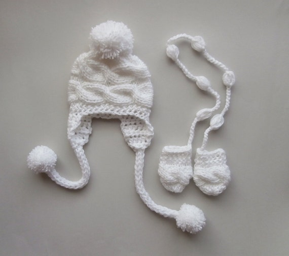 Winter Baby Hat Mittens Boy Outfit Knittingland