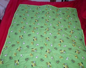 B Quilt #5 -John Deere Baby Quilt