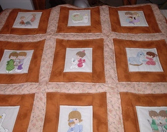 B Quilt #9 Precious Moments Baby Quilt