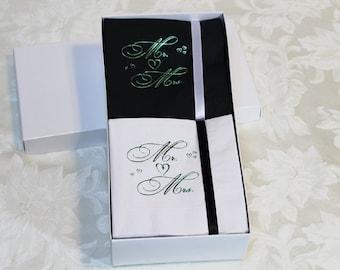 Beverage Napkin Gift Set~100 Mr & Mrs