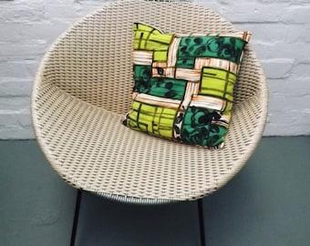 1950s' vintage fabric cushion