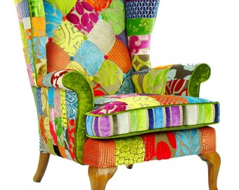 Penshurst Patchwork Armchair Designers Guild Fabric