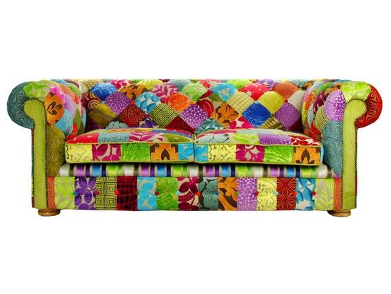 patchwork sur mesure chesterfield 3 places canap designers. Black Bedroom Furniture Sets. Home Design Ideas