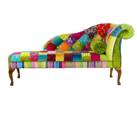 Bespoke patchwork rhf chaise longue designers guild fabric - Chaise anders patchwork ...