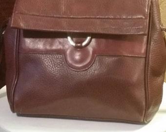 Leather vintage Etienne Aigner purse/satchel/shoulder bag.