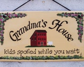 Grandma's House Sign - Personalized Free