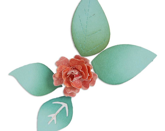 Sizzix Large Sizzlits Die - Flower, Bloom w/Leaves 3-D