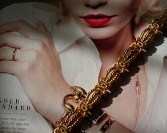 Haute Detailed Chain Vintage Bracelet  Newburystreetchic Jewelry  We Ship Internationally
