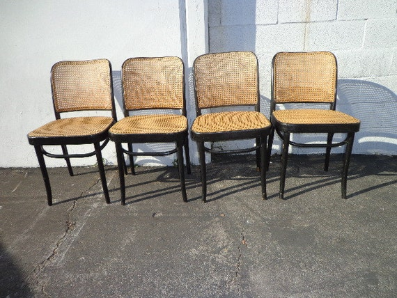 4 Bentwood Thonet Prague Chairs No 811 Hoffman Dining Chair – Thonet Dining Chair