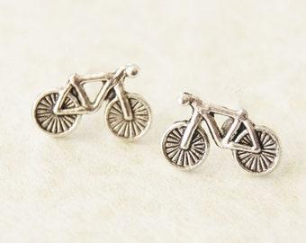 Bike Earrings - Bicycle Stud Earrings - Bike Studs - Cyclist Gift - Bicycle Gifts - Bikerider Jewelry - Cyclist Jewelry - Bike Jewellery