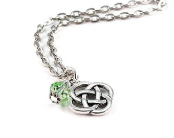 Celtic Knot Necklace Silver Chain