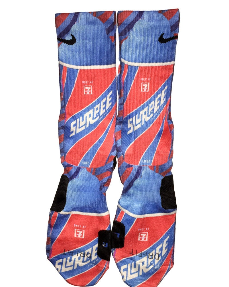Custom slurpee nike elite crew socks for Custom elite