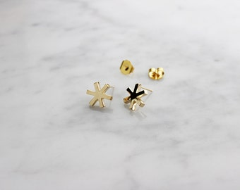 Asterisk Earring Gold , Stud earrings , 247 by GOOD AFTER NINE