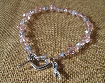 Breast Cancer Awareness Swarovski Bracelet by The Darling Duck