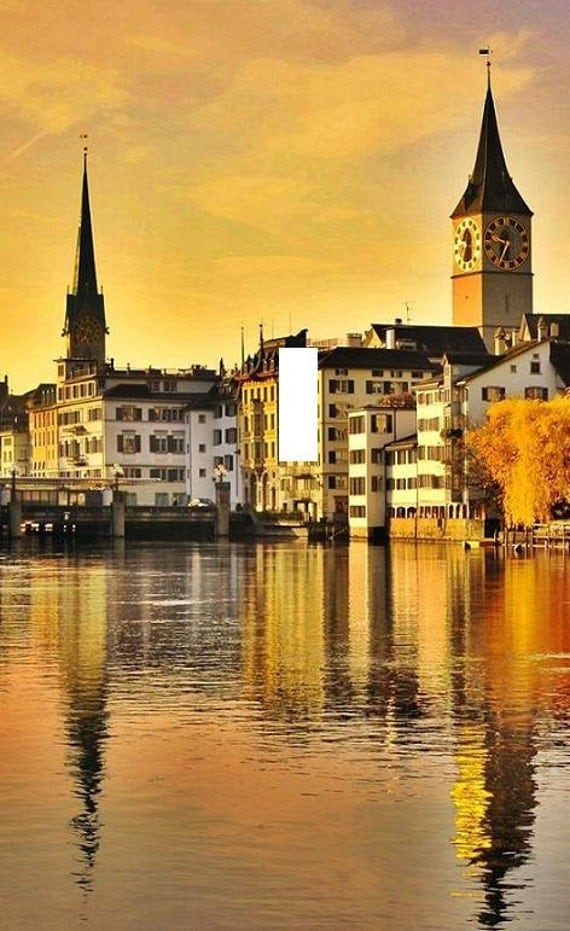 Zurich switzerland sunset light switch plate wall art for Home decor zurich