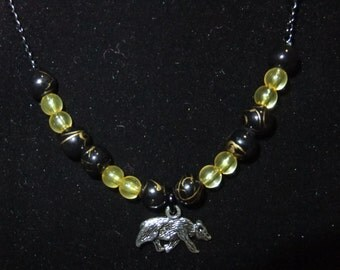 Hufflepuff Yellow & Black Necklace (H5)