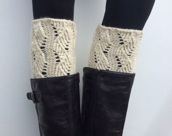 Knitted Legwarmers, Leg warmers boot womens leg warmers,  Fisherman color or Select Color