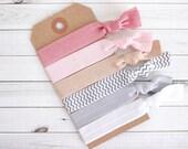 SHEER BLISS Elastic Hair Ties, Ponytail Holders, Stretchy Ribbon Hair Ties, Elastic Hair Accessories, Yoga Hair Ties, Boho