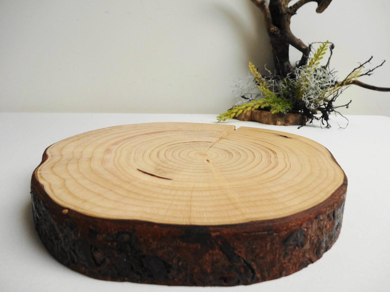 Wood Slab Cake Stand Lipper International 1030 Acacia