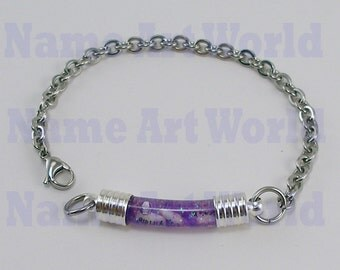 Bracelets personalized, Your Name On a Grain  of Rice Jewelry