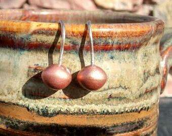 Matte solidarity hollow copper dangles