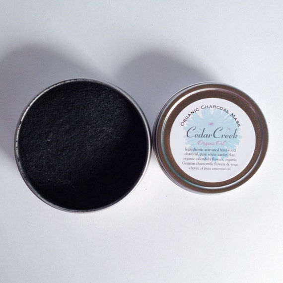 Organic Activated Charcoal Face Mask: Natural And Organic Activated Charcoal Mask Natural Clay Mask