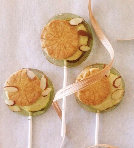 3 Frangipane Pear Tart Almond Lollipops
