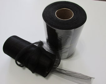 Black 100 Yard Tulle Fabric
