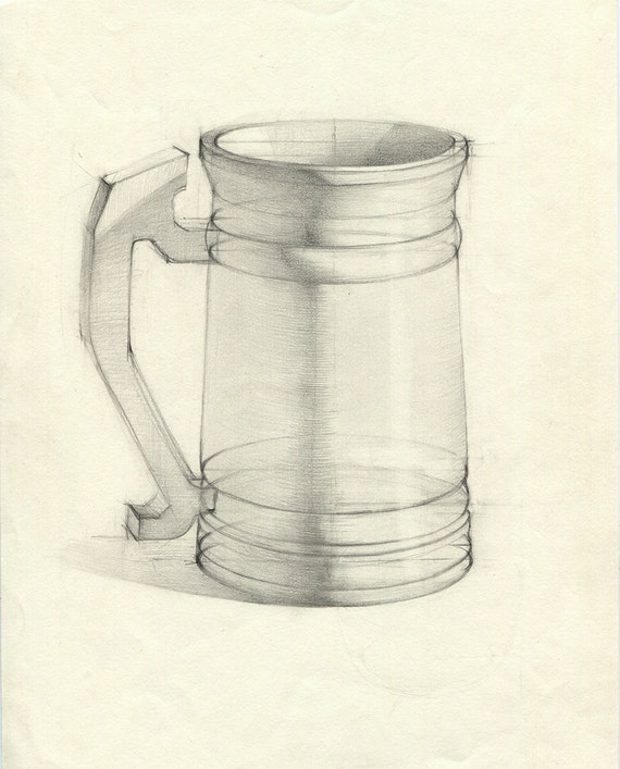Beer Pencil Drawing Beer Mug Drawing Jar Pencil