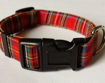 Dog Collar - Red Tartan