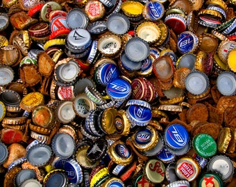 240-Pack, Recycled Bottle Caps for Sale: Beer Caps, Soda Caps, Newer, Tarnished