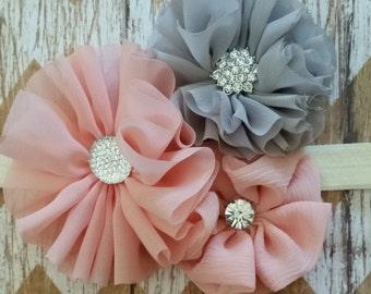 Fancy chiffon flower headband