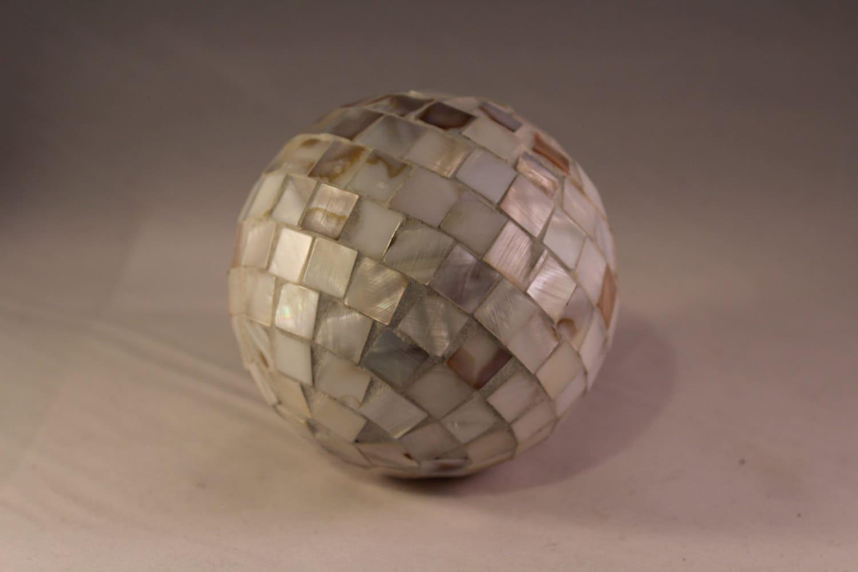 Decorative shell balls home decor coastal living