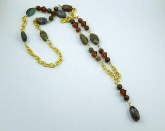 Chrysocolla beaded necklace