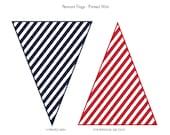 PRINTABLE Baseball Collection Pennant Flags - Printed Wish