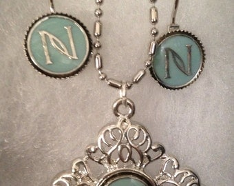 Inspired Nerium Earrings and Matching Necklace