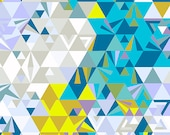 Half Yard - 1/2 Yard - Geometry in Ocean - EX LIBRIS by Alison Glass for Andover Fabrics