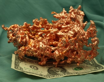 Molten Copper Abstract Sculpture 1468 grams - COPR010