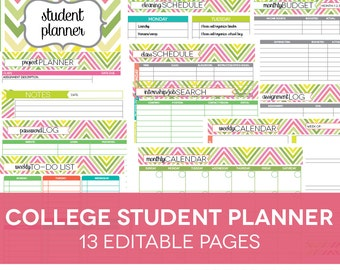 best student planner printable ideas on pinterest study etsy