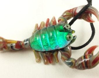 Scorpion - Glass Pendant Necklace