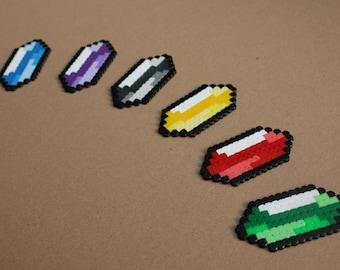 Rupees Legend of Zelda Perler Hama - choose from 6 colors