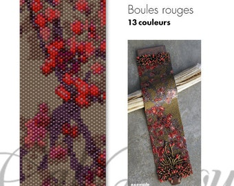 Boules rouges - PATTERN