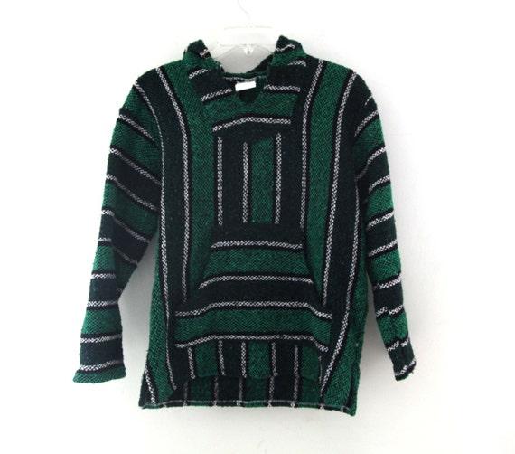 Green baja hoodie