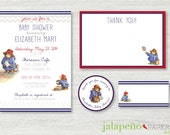 Paddington Bear - Printable Baby Shower Invitation Suite