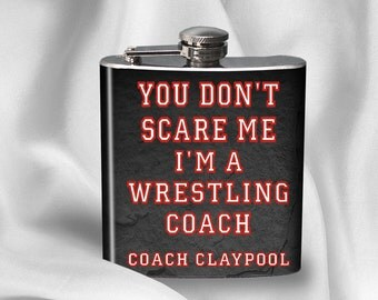 SALE! Hip Flask - Wrestling Coach- Gift for Dad - Gift for Friend - Birthday gift - Alcohol - Liquor-  - Cyber Monday