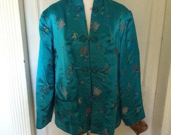 Vintage chinese satin jacket size S/M