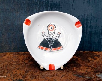 Vintage Soviet Era RPR Riga Porcelain Factory Ashtray
