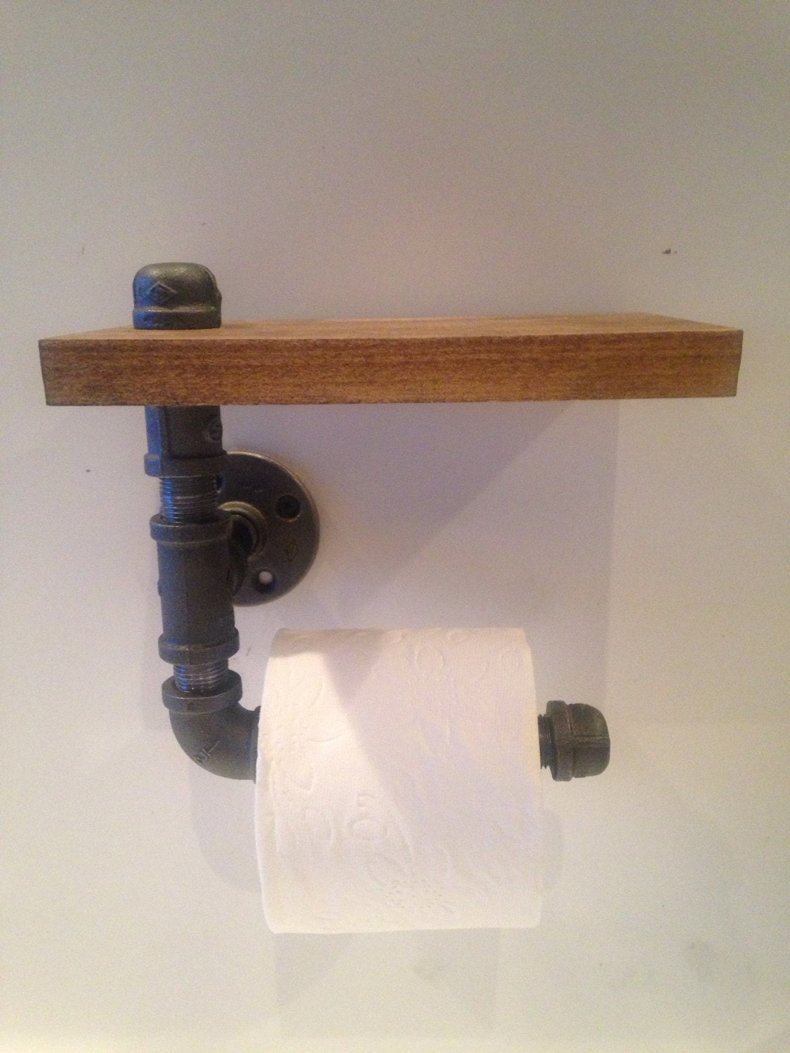 Industrial Black Pipe Toilet Paper Holder By